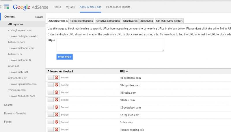 Block 426 Low CPC Advertiser URLs in Adsense - Using VBScript to