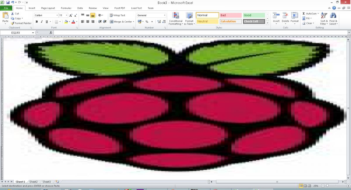 How to Create a Picture By Changing Cell Colors in Excel, using PHP